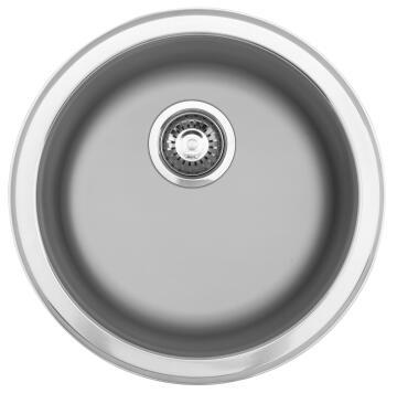 Kitchen sink 1 round bowl FRANKE RDX610-45 stainless steel 450mm