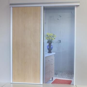 Interior Sliding Door kit with sliding mechanism MDF Maple-w890xh2050mm