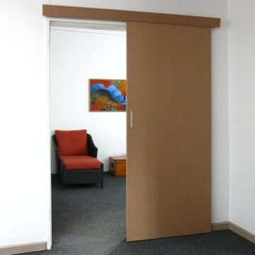 Interior Sliding Door kit with sliding mechanism MDF Styla Ready to paint-w930xh2050mm