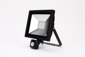 Led Floodlight 30W With Sensor Black