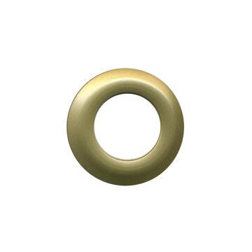 8 PLASTIC GROMMETS METAL LOOK 40MM GOLD