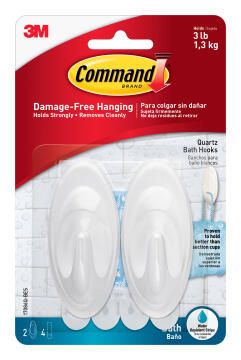 Decorative hooks med damage-free hanging 2 hooks, 4 strips command 3M