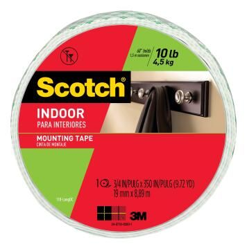 Mounting tape interior clear 19mmx8.89m roll scotch