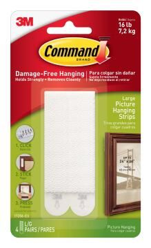 Picture hanging strips lrg damage-free hanging 4 sets command 3M