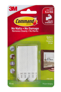 Picture hanging strips med damage-free hanging 4 sets command 3M
