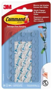 Clear docarating clips damage-free hanging 20 clips, 24 strips command 3M