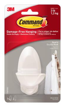 Decorative hook med damage-free hanging 1 hook, 2 strips command 3M
