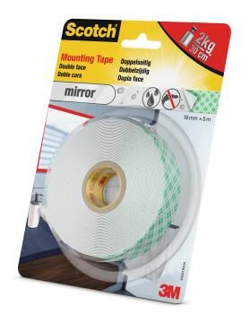 Mounting tape double face mirror waterproof 19mmx5m scotch