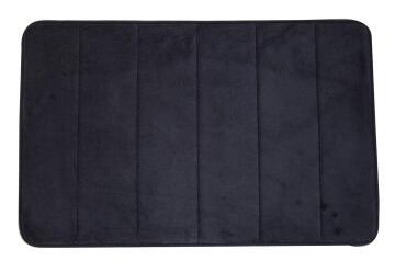 Bath mat memory foam cotton SENSEA Cocoon2 black