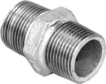 Nipple hex galvanised 3/4""