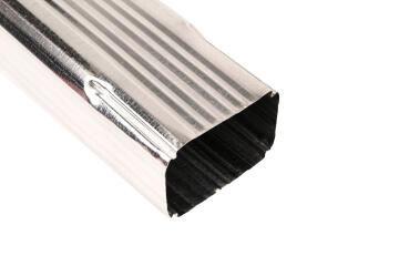 Galvanized Steel Square Downpipe 75mm x 100mm x 1.8m PREMIER
