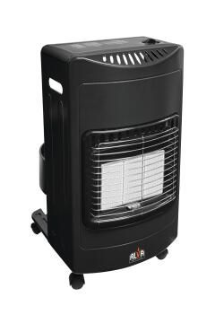3 PANEL GAS HEATER LRG - BLK ALVA