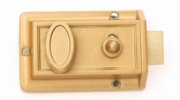 Night latch gold color finish euro brass