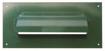 Plate letter green hooded eurobrass
