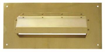 Plate letter brass hooded eurobrass