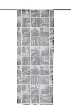 Café Curtain Rod Insulated City Grey 2 Pack 60x120cm