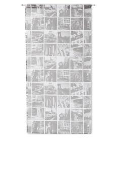 Café Curtain Rod Insulated City Grey 80x160cm