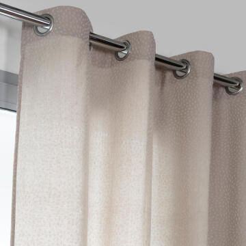 Curtain Eyelet Rizier Beige & White 140x250cm