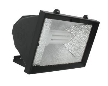 Encl. Floodlight E27 E.Saving Black