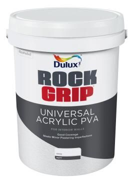 Interior paint DULUX ROCKGRIP Acrylic PVA white matt 20L