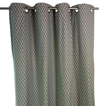 Curtain Eyelet Deco Jacquard Grey