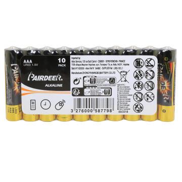 Battery Aaa Alkaline 10 Pack Lr03 Lexman