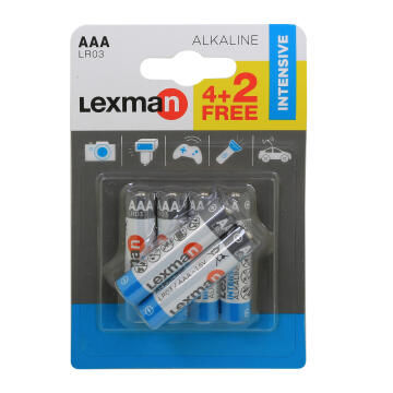 Battery Aaa Alkaline 6 Pack Lr03 Lexman