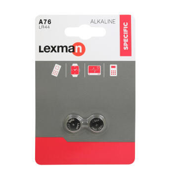 Lr44 Battery Button Cell Alkaline 2Pk