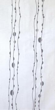 JAP PANEL CUT-OUT WAVE WHITE 45X260