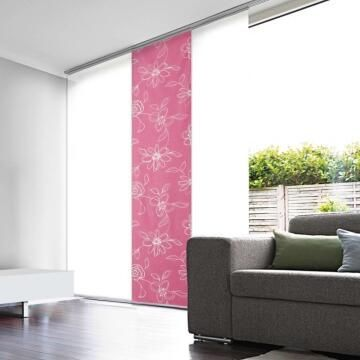 Japanese Blind Panel Cut-Out Fuchsia Flower 45x260cm