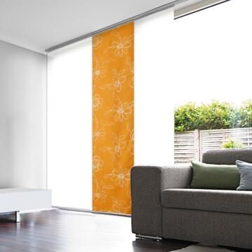 Japanese Blind Panel Cut-Out Orange Flower 45x260cm