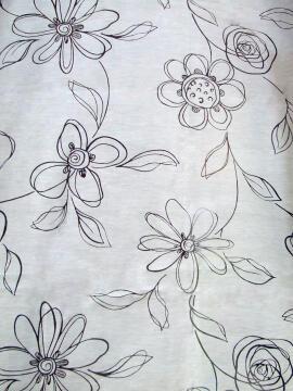 JAP PANEL CUT-OUT FLOWER WHITE 45X260