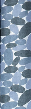 Japanese Blind Panel Cut-Out Pebbles Grey 45x260cm
