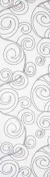JAP PANEL CUT-OUT ARTDECO WHITE 45X260