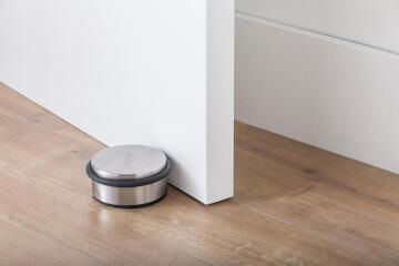 Door stop round stainless steel