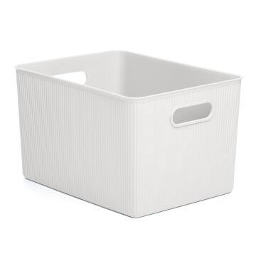 Laundry basket 22 l baobab white
