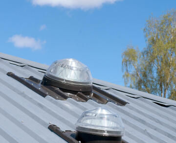 Tubular Skylight Solatube 450 TS Kit for room up to 25m2 with dome, 1.2m tube and ceiling ring