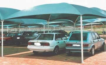 Carport KIT for 1 Car Spray Painted Structure with Shadeport Roof-w2.8xl5.5m
