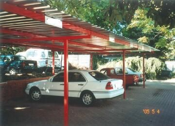 Carport KIT for 2 Cars Spray Painted Structure with Chromadeck Roof-w5xl6m