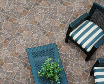 Floor Tile Ceramic Sahara Stone Slip Resistant 500x500mm (2m2/box)