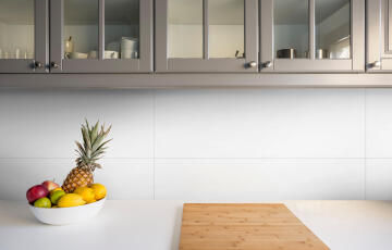 Wall Tile Ceramic Satin White 800x265mm (2.332m2/box)