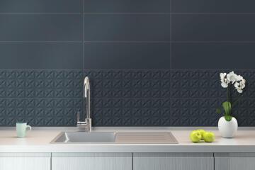 Wall Tile Ceramic Archi Navy 800x265mm (2.332m2/box)