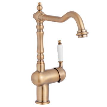 Kitchen tap DELINIA Sara brass