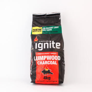 Charcoal 3Kg Lumpwood 1Kg Instant Light