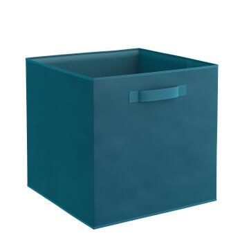 Storage basket polyester teal 31cm X 31cm X 31cm