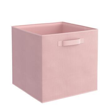 Storage basket polyester pink 31cm X 31cm X 31cm