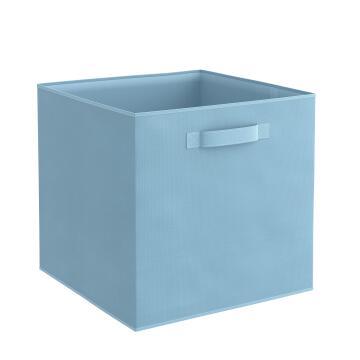 Storage basket polyester blue 31cm X 31cm X 31cm