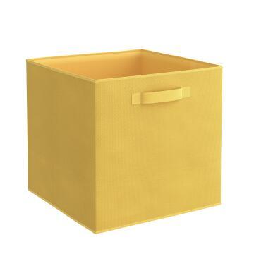 Storage basket polyester yellow 31cm X 31cm X 31cm