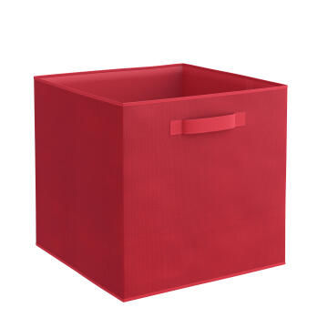 Storage basket polyester red 31cm X 31cm X 31cm