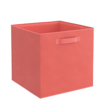 Storage basket polyester coral 31cm X 31cm X 31cm